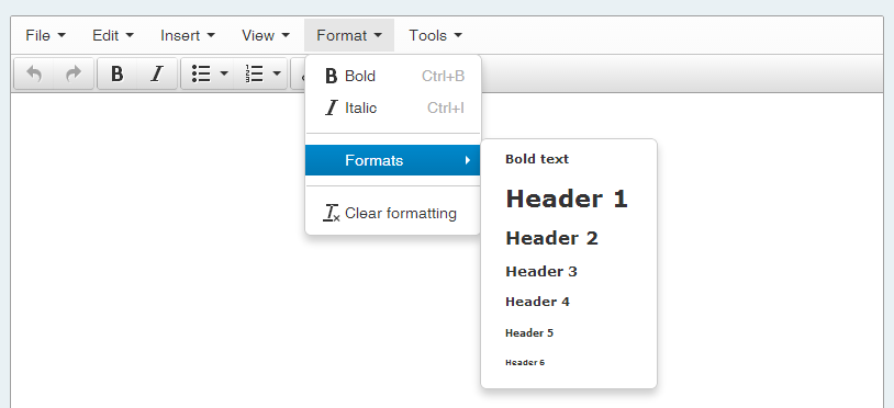 Screencap showing how to format something as a header