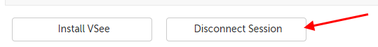 Disconnect Session button along the bottom of the Dashboard or waiting room page