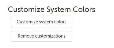Customize system colors button