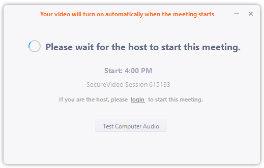 Please wait for the host to start this meeting