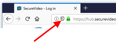 Shield icon: Firefox's content blocker